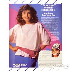 80s Vogue Bra Advertisement