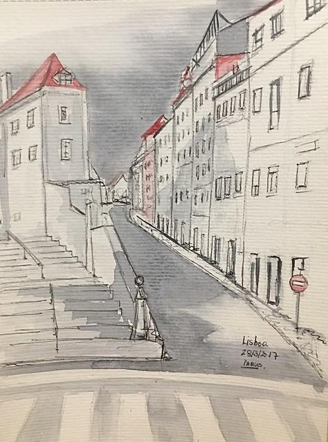 2018. Lisboa. Acuarela
