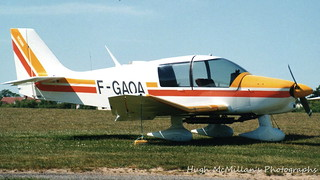 F-GAOA, at Jersey Airport, Channel Islands.
