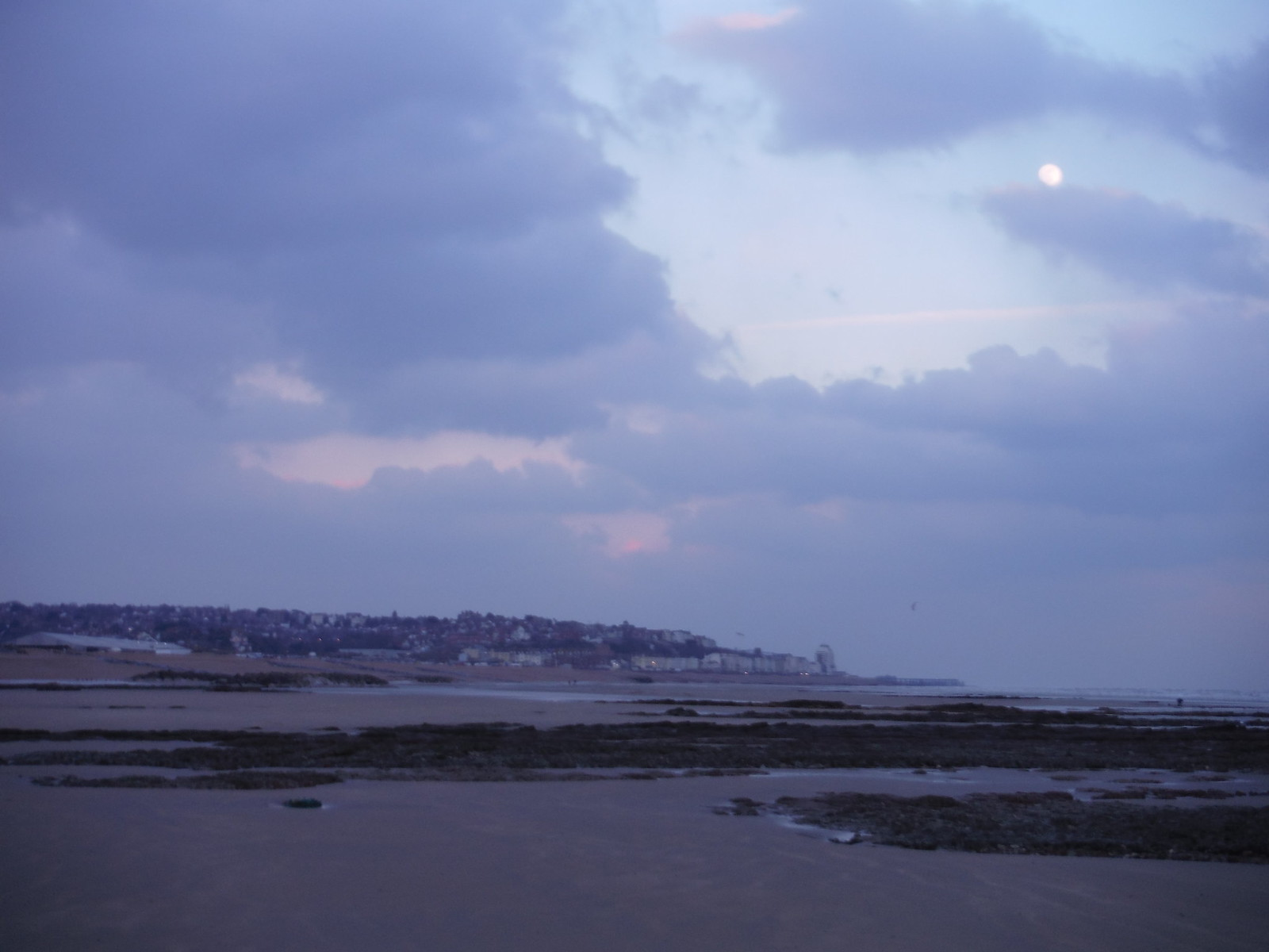 Full Moon over Hastings SWC Walk 66 - Eastbourne to Hastings via Bexhill
