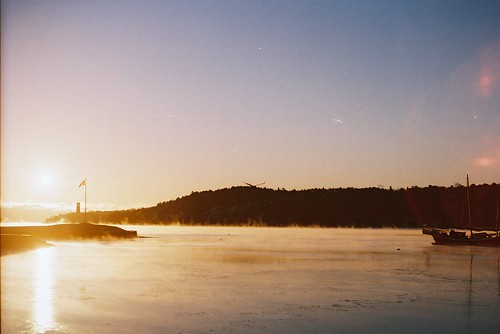 landscape sunrise ocean winter fog mist boat ship light lighting sky reflection halifax novascotia travel travelphotography