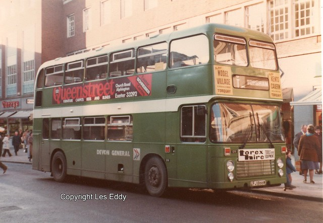 LFJ866W, Exeter, Early 1980s