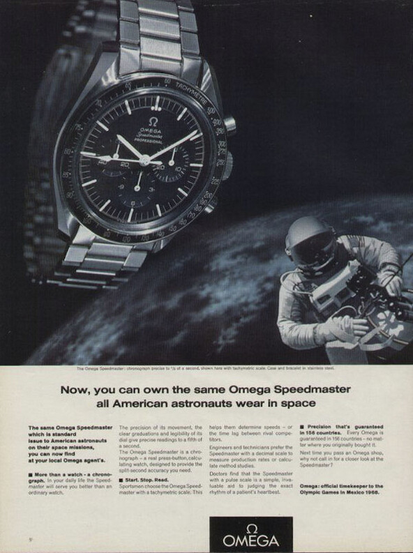 Print ad for Omega