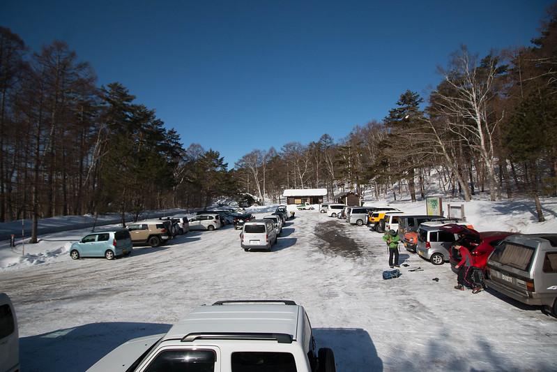 飯縄山の駐車場