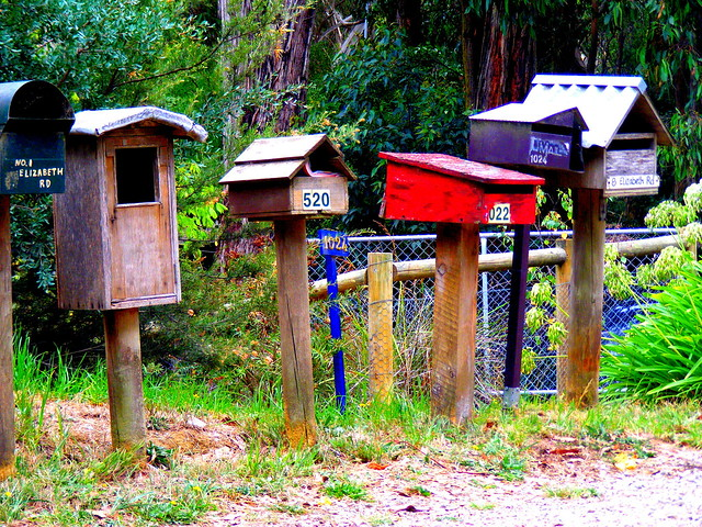Letterboxes, Red Hill, Victoria.