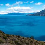 Lago General Carrera, road to Chile Chico