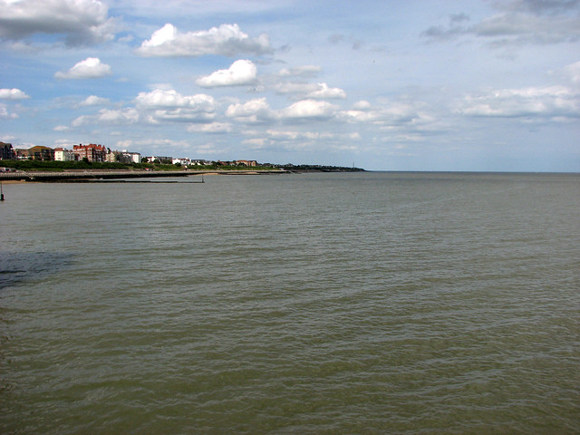 View from Clacton Pier (looking north)