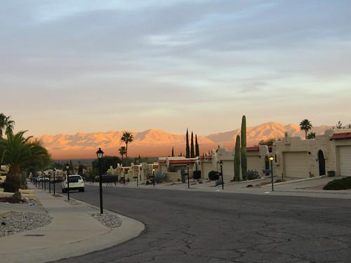 residential dusk mountains santaritamountains greenvalley arizona