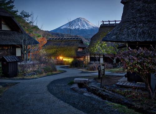 A Night View Of Mount Fuji
