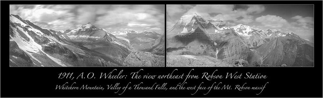 Historic panoramas from Mt. Robson Provincial Park