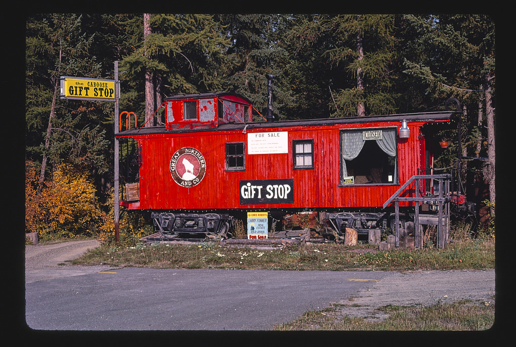 Caboose and Loose Caboose Gift Shop, Route 93, Whitefish