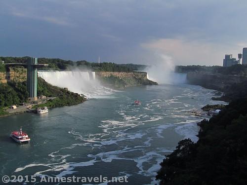 The US/Canadian border at Niagara Falls