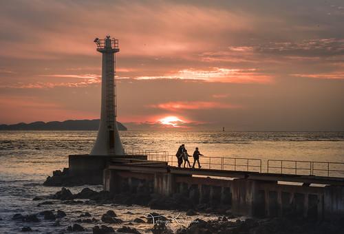 sunset nature landscape seascape sky cloud sea light lighthouse japan nagasaki