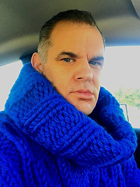 New Royal Blue Alpaca Wool Turtleneck from Tangles Creations