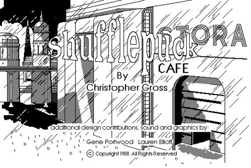 Shufflepuck Café - Title screen