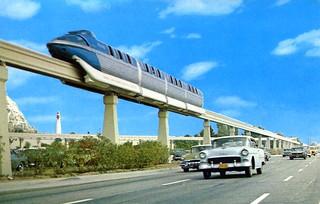 Disneyland Daily Operating Monorail Anaheim CA