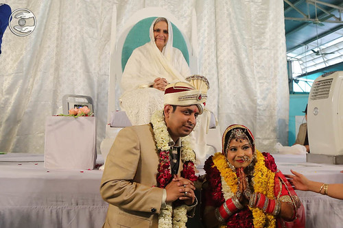 Newly-wed couple seeking blessings