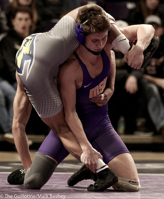 149: Oscar Ramirez Jr. (AU) Dec. over Kyle Rathman (MSU) 5-4 | MSU 7 – AU 6 - 180125amk0052-2
