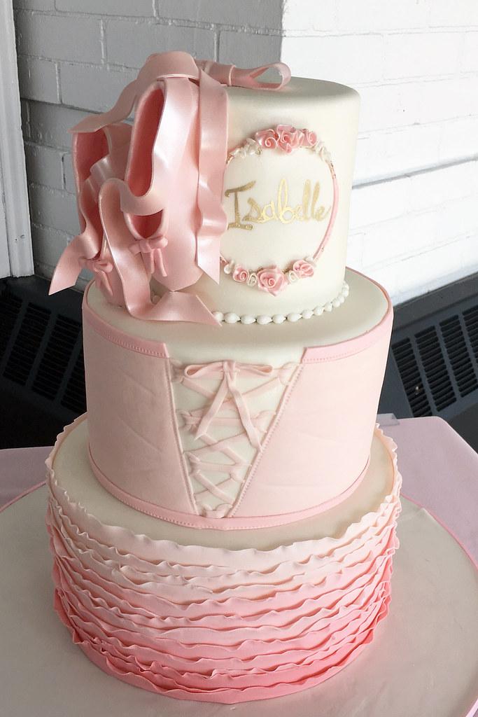 Stupendous Ballerina Tutu Birthday Cake Oakleaf Cakes Flickr Personalised Birthday Cards Akebfashionlily Jamesorg