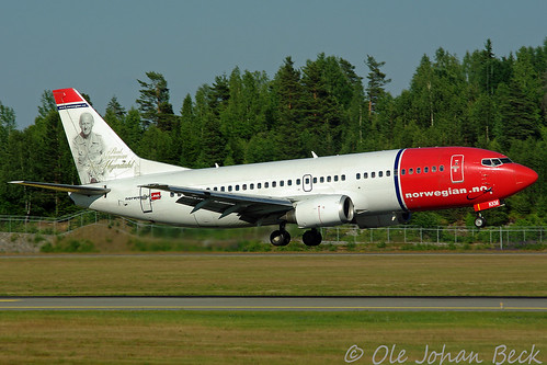Norwegian B737-3Y0 LN-KKM at ENGM/OSL 27-06-2009 | by Ole Johan Beck