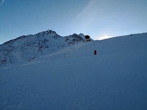 瑟尔登 sölden austria 奥地利 skiresort 滑雪场 piste sunset 日落