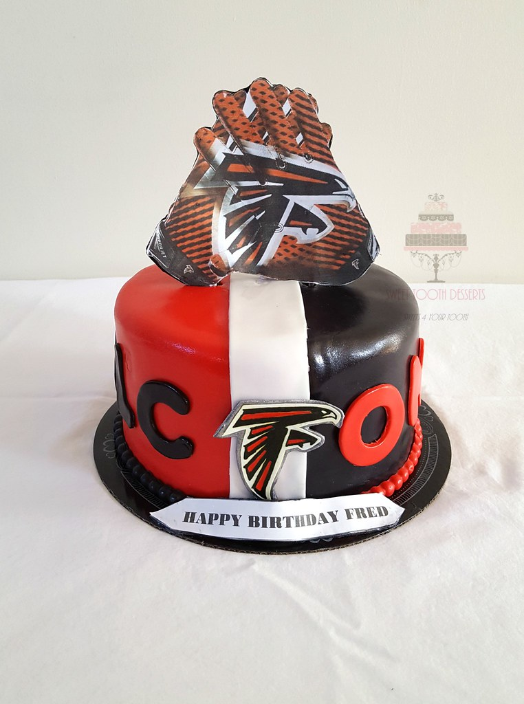 Fine Atlanta Falcons Birthday Cake Late Post From 2 Weeks Ago Flickr Funny Birthday Cards Online Sheoxdamsfinfo