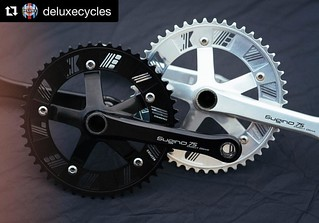 #Repost @deluxecycles  ・・・ Chainrings produced by our friends @bespokechainrings are now live on the web store! 47-53 available for shredding the street, Crit and Velodrome. 6 day tested, World Cup approved, smoother than a Zen (Link to web store in bio) | by bespokechainrings