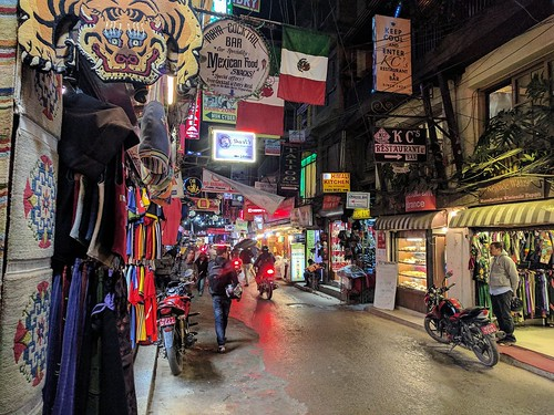 A busy Thamel street at night | by steve.upton