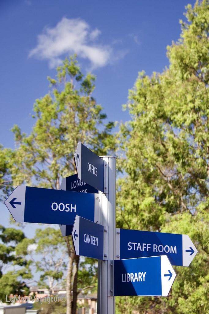 Signs, Schoolground, Abbotsford, NSW, Australia