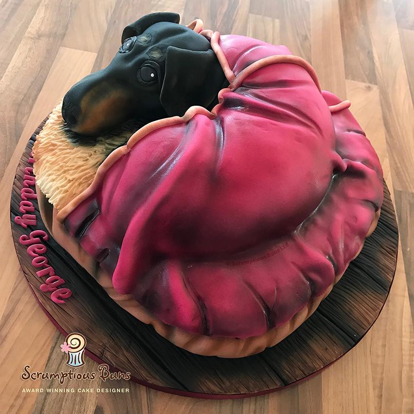 Astounding Dachshund Birthday Cake Samantha Douglass Flickr Funny Birthday Cards Online Unhofree Goldxyz