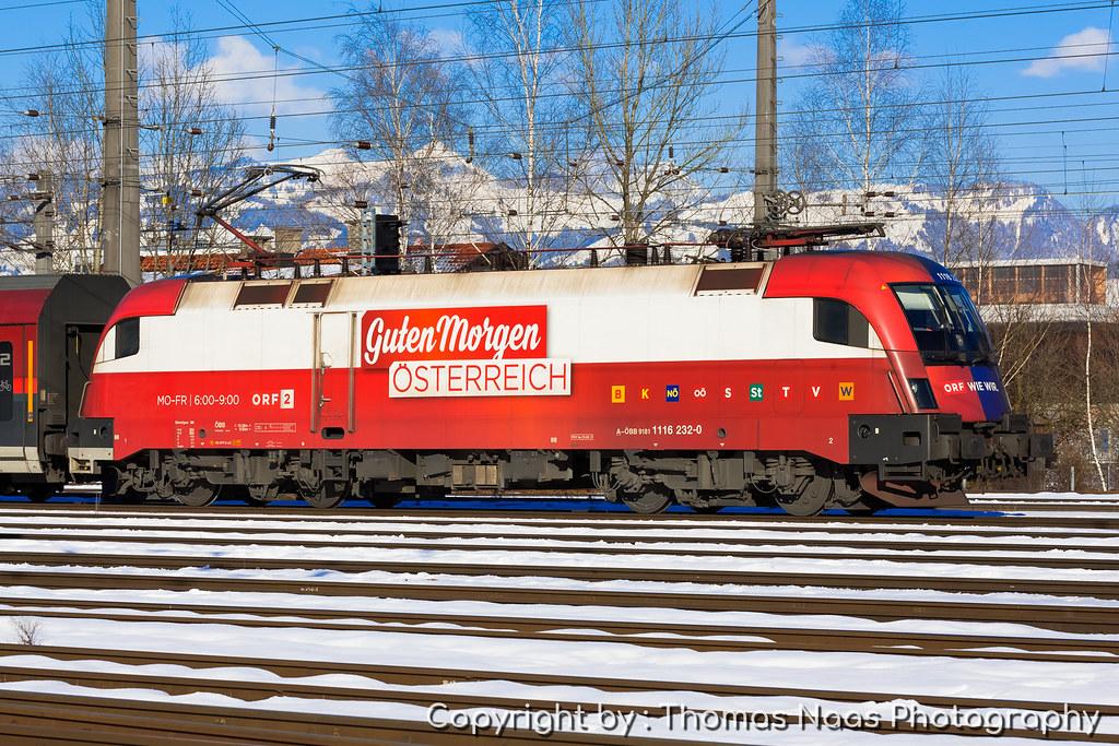 öbb 1116 232 0 Orf Guten Morgen österreich Railroad