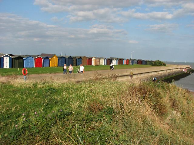 The beach and promenade at Dovercourt
