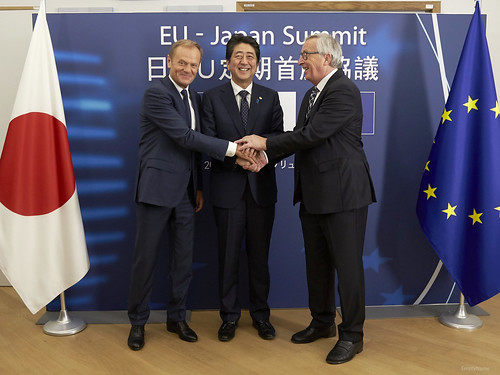 President Tusk at the EU-Japan Summit | by europeancouncilpresident
