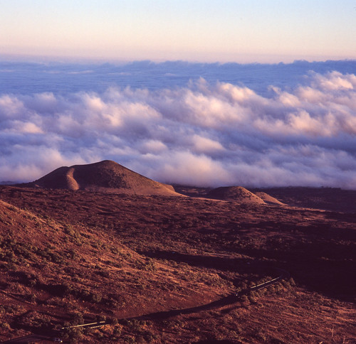 "Image titled ""Clouds over the road, Mauna Kea."""