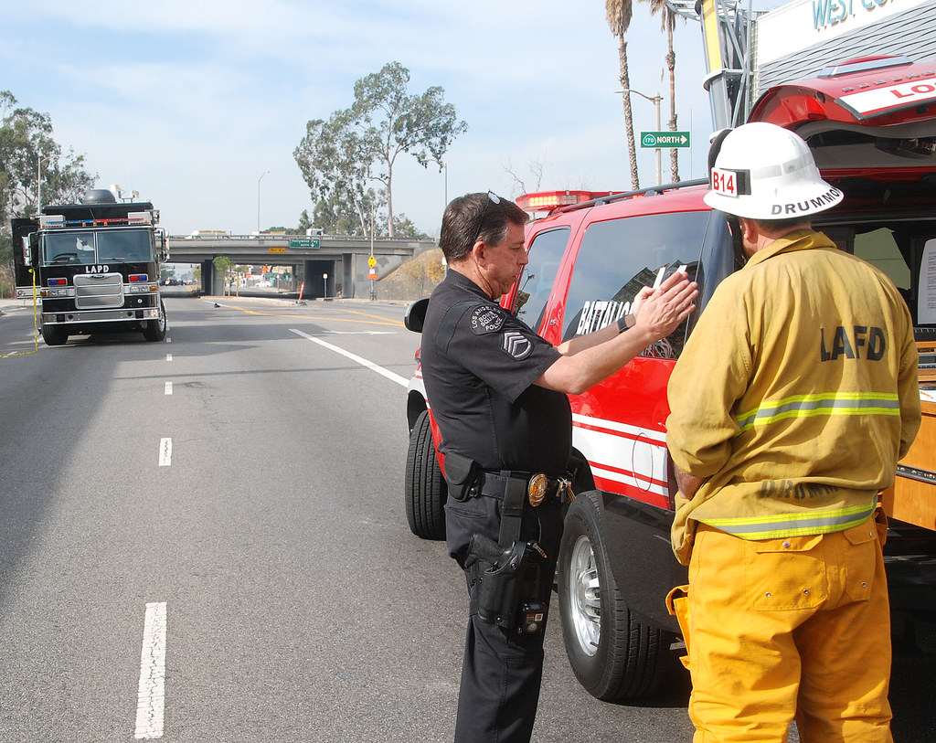 LAFD Supports LAPD Bomb Squad Investigation in NoHo   Flickr