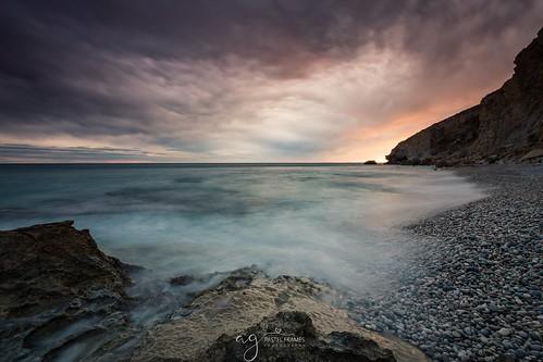 villajoyosa spain beach sunset rocks mediterraneansea europe canon5dmark3 canon1635mm leefilters sky coastline seaside seascapephotography photography clouds waves