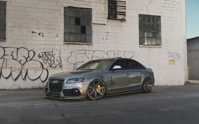 Audi S4 Gray with Rohana RC7 Matte Graphite