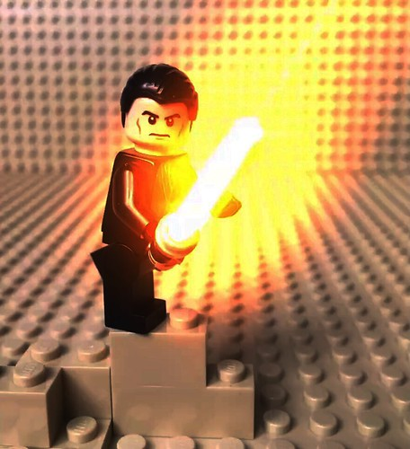 Lego star wars special effects yellow LightSaber by lego3130starwars