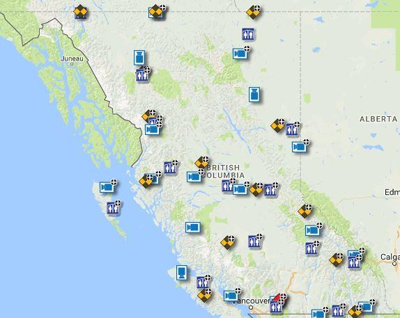 DriveBC added 40 camera views in 2017!   British Columbians
