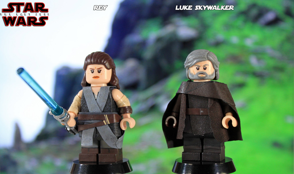 Custom Lego Star Wars The Last Jedi Rey Luke Skywalke Flickr
