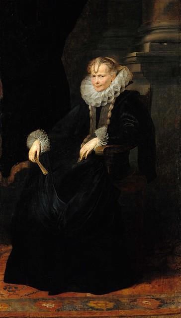 Anthony van Dyck, Bildnis einer genuesischen Dame / Portrait of a Genoese Lady (ca. 1621)