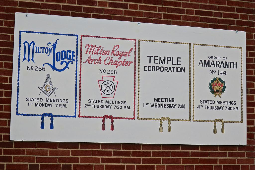 Masonic Sign, MIlton, PA | Sign on the Milton Masonic Lodge,… | Flickr