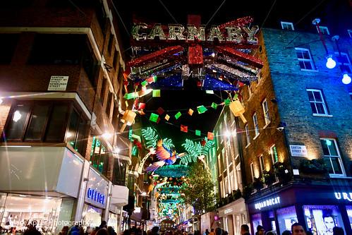 Carnaby Street London UK 2017 December Lights.