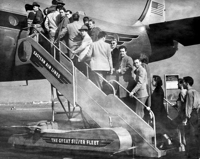 Chicago Midway Airport - Eastern Air Lines - Loading Passengers