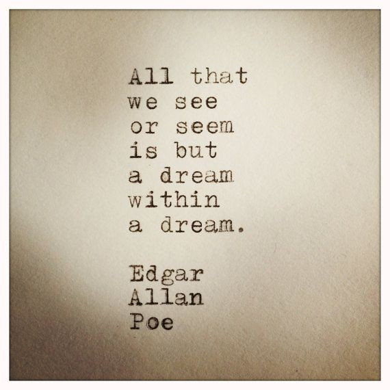 Quotes About Strength : Edgar Allan Poe Quote typed on Typ ...
