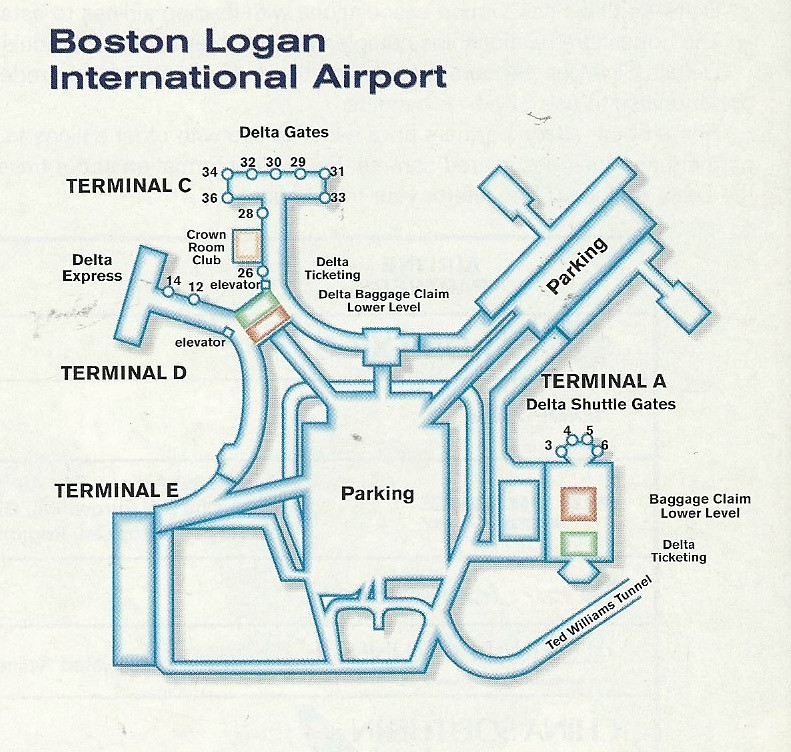 Delta BOS diagram, 1999 | Delta Air Lines diagram of Boston … | Flickr
