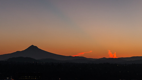 fiery clouds mountain mt hood portland oregon