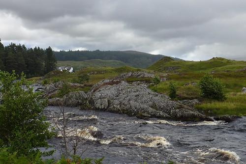rivergaur river scotland leicadlux6 leica dlux6 mountainside unitedkingdom water rapids landscape riverside thehighlands hills clouds rannoch rock grass sky
