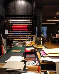 Bookbinding table at Grafisch Museum Groningen