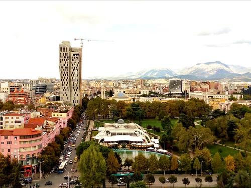 Tirana from above